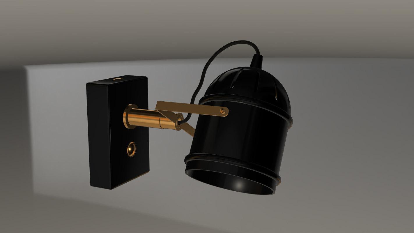 wall reading light 3D model