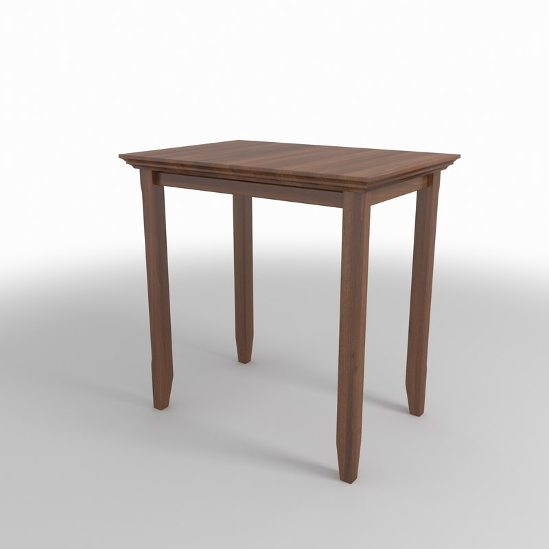 wood table 3D