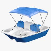 pedal boat rental 3D model