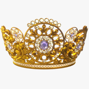 crown diadem 3D