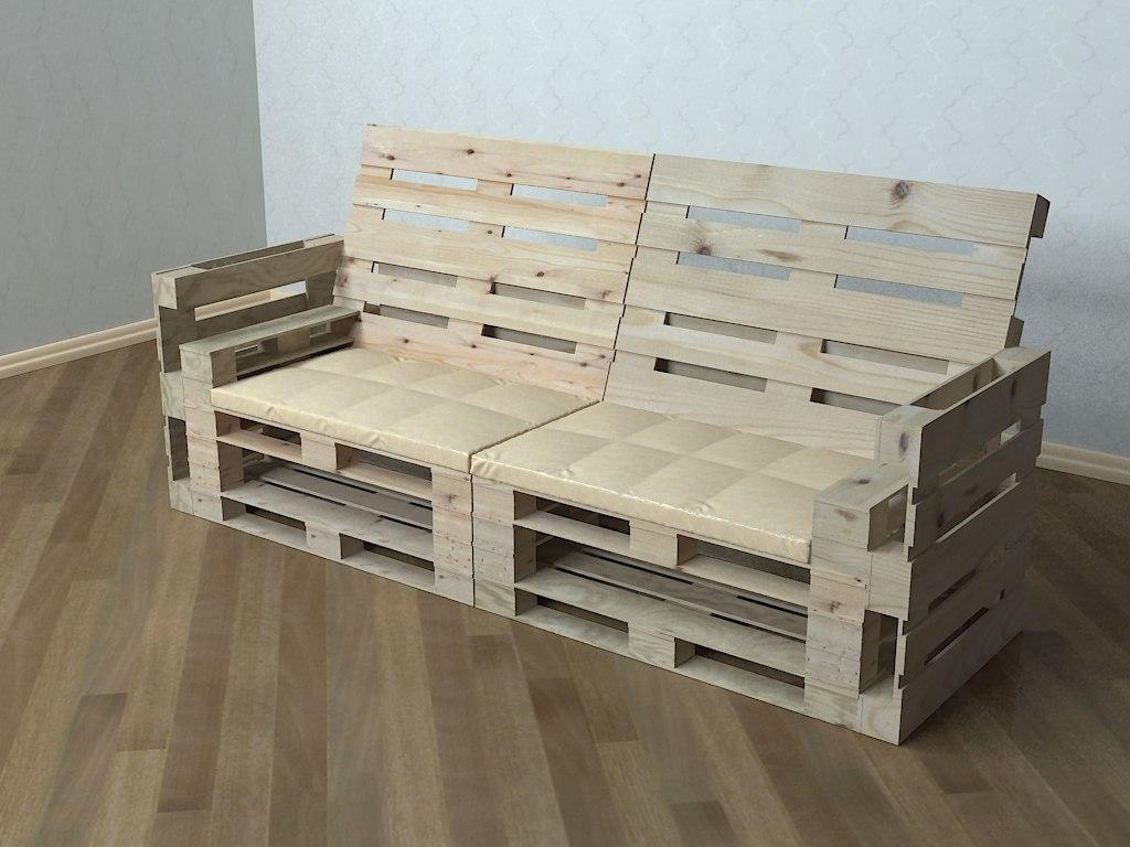 sofa pallets 3D model