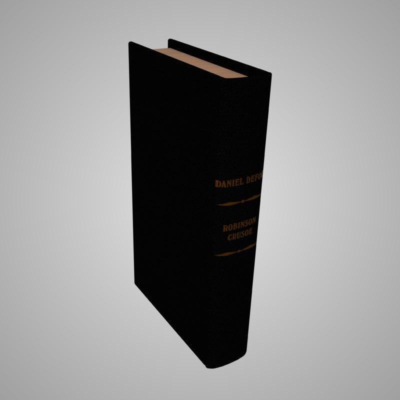 3D photorealistic book robinson crusoe