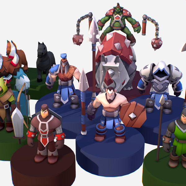 discount 13 medieval character 3D model