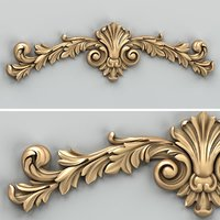 Carved decor horizontal 027