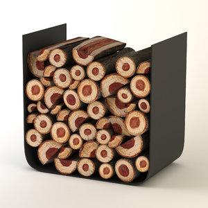 firewood holder 3D