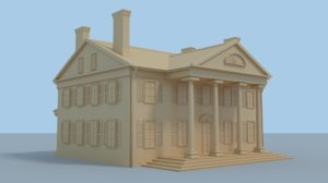 large connecticut house 3D