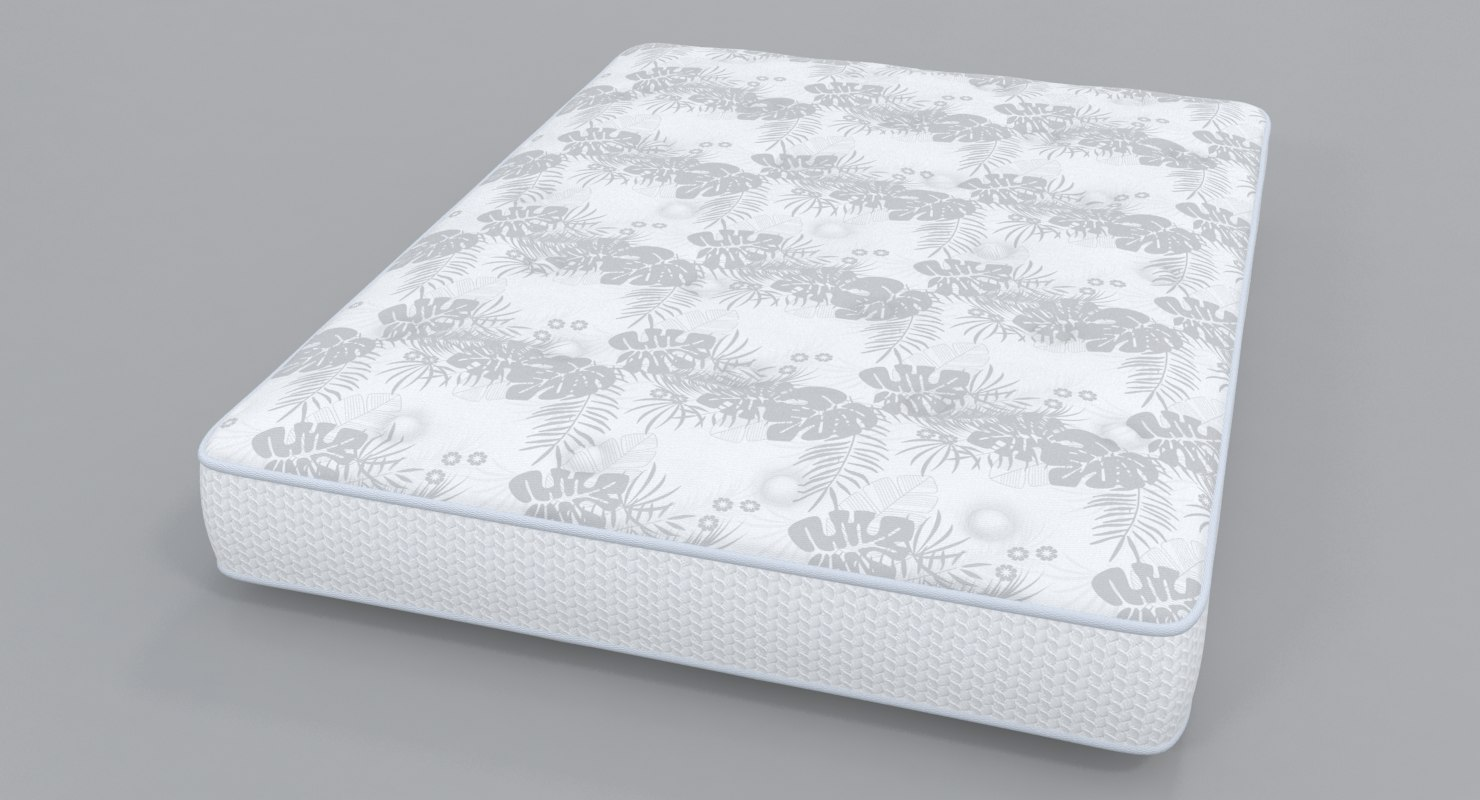 double bare mattress 3D model