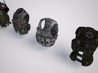 3D military vest character pack