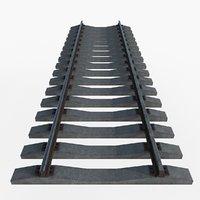 railway concrete sleepers 3D