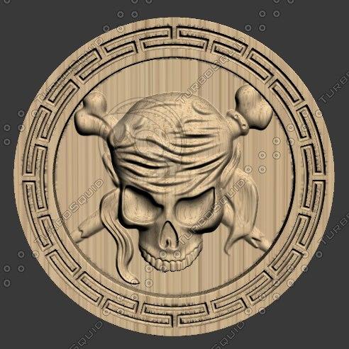 3D model stl skull
