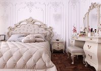 3D french classic bedroom scene