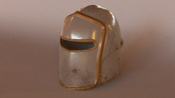 iron helmet 3D
