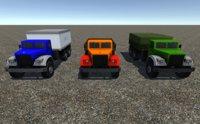 3D industrial cargo truck model