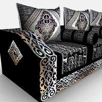 3D model moroccan sofa