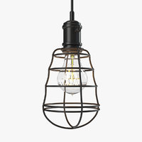 industrial cage pendant lamp 3D model