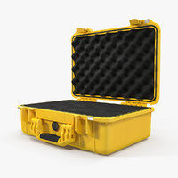 pelican case yellow foam 3D model