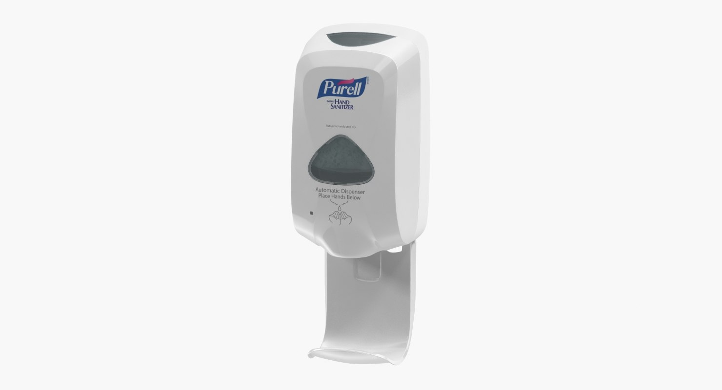 3D purell sanitizer dispenser model