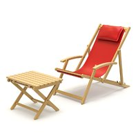 Deck Chair with Side Table
