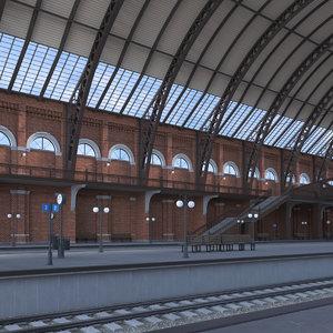 train station 3D model