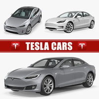 Tesla Cars 3D Models Collection 2