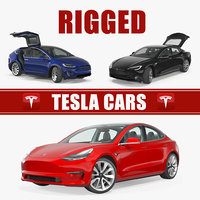 Tesla Rigged Cars Collection 2