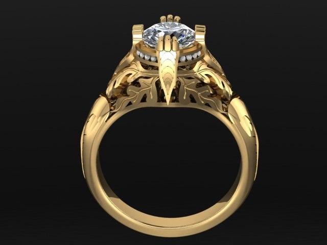 diamond jewelry ring 3D