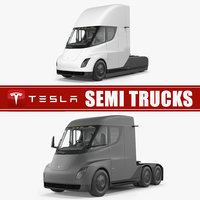 3D tesla semi trucks
