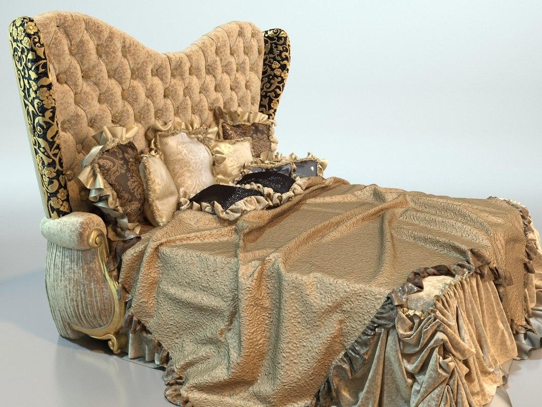 3D luxury bed