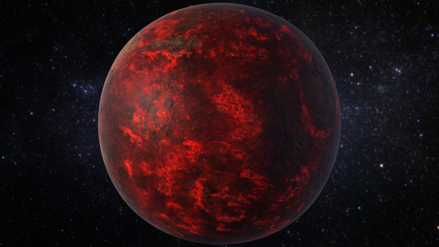 3D lava planet 55 cancri model