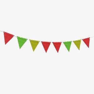 fagnon garland banner 3D model