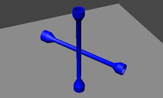 car tire screwdriver 3D model