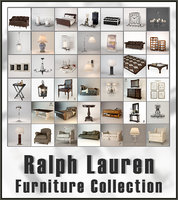 ralph lauren furniture collected 3D