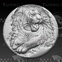 3D stl tiger