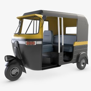3D model auto rickshaw tuktuk