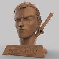 3D bust roronoa zoro model