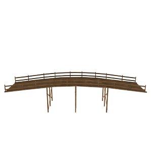 3D wood bridge model