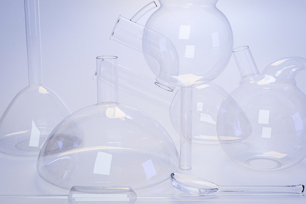 3D model laboratory glassware set spoon
