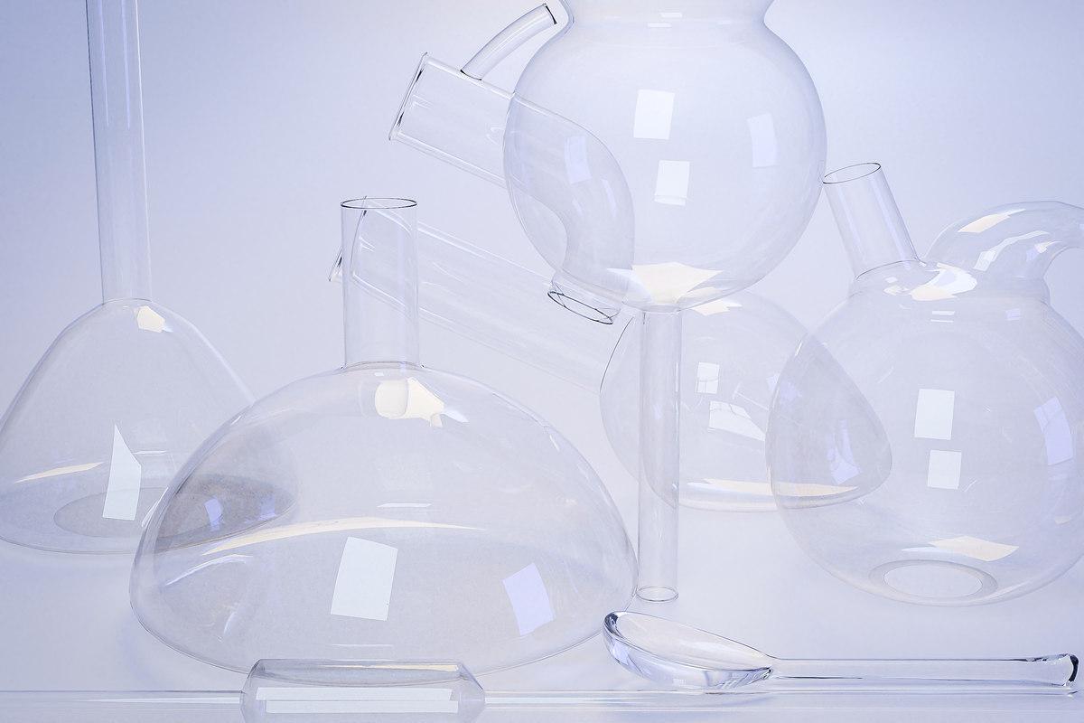 3D model laboratory glassware set spoon