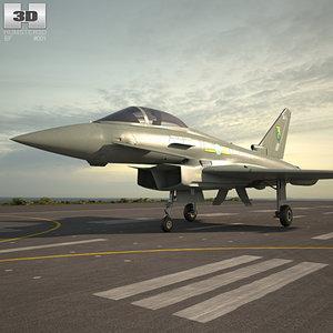 eurofighter typhoon fighter 3D
