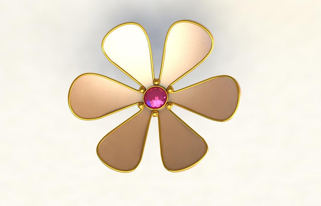 diamond flower 3D