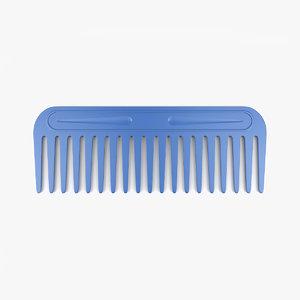 3D hair comb model