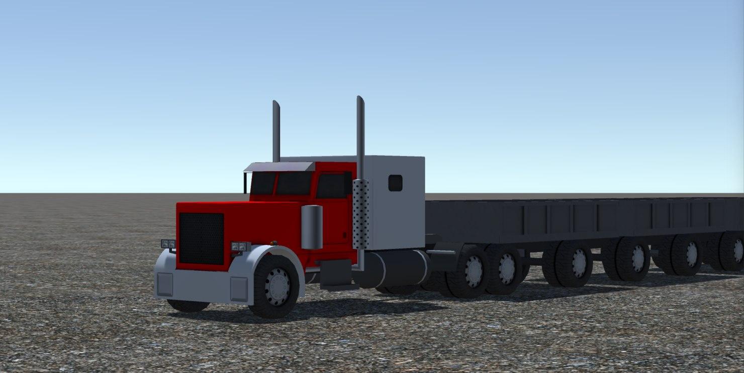 3D 1 industrial long truck