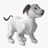 3D realistic sony aibo 2017 model