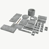 3D concrete building components