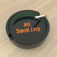 ashtray cigarette smoking 3D model