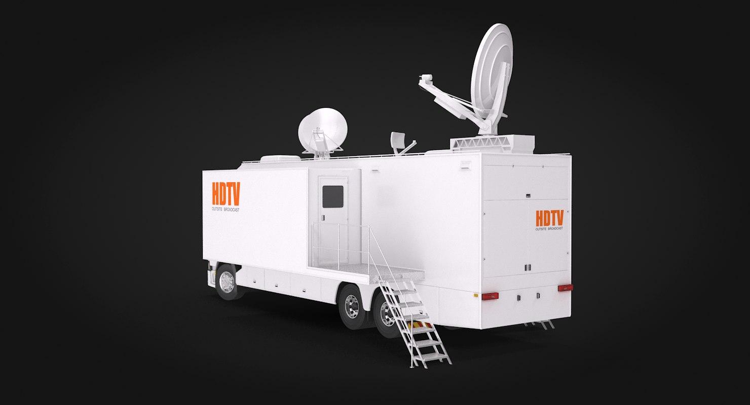 3D scania tv truck