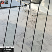 3D tile stone set 14 model