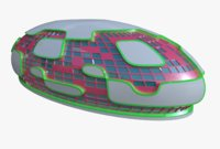 3D futuristic hall model