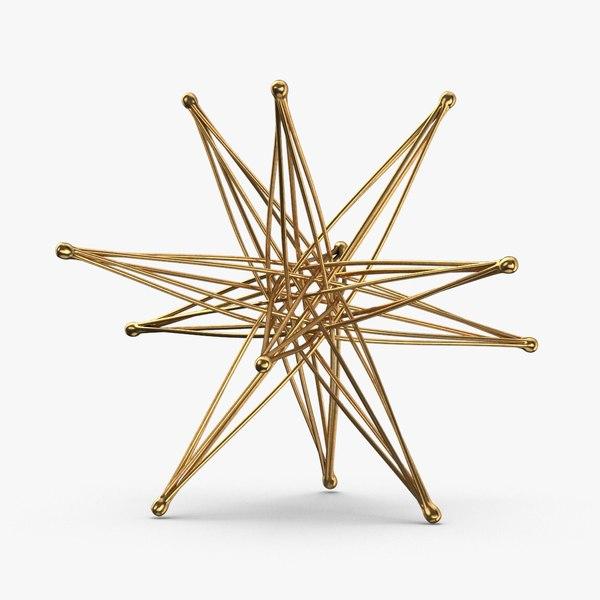 star objects 3D model