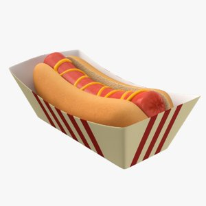 hot dog sandwich 3D